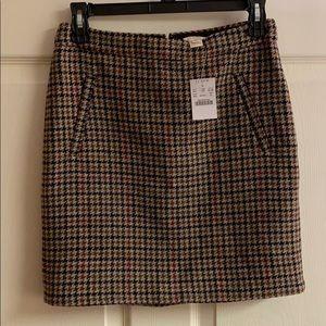 J. Crew Houndstooth Skirt